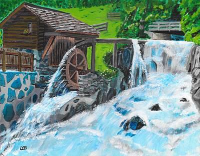 Water Wheel Art Print by David Bigelow