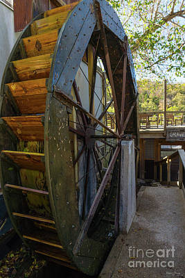 Photograph - Water Wheel Dawt Mill by Jennifer White