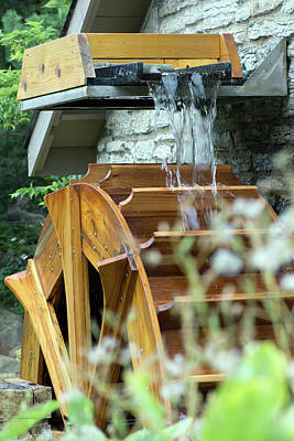 Photograph - Water Wheel by Edward Congdon