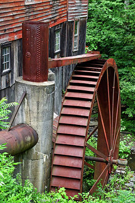 Dry Lake Mixed Media - Water Wheel New Hopes Mills New York 01 by Thomas Woolworth
