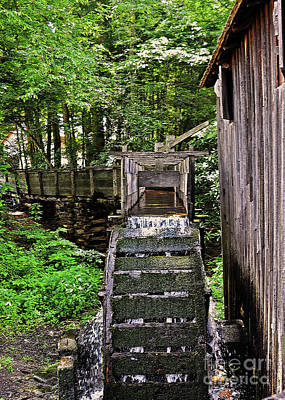 Photograph - Water Wheel Of Grist Mill by Lydia Holly
