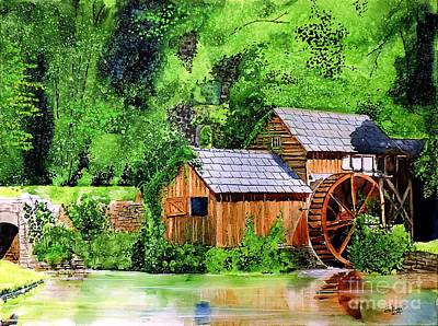 Painting - Water Wheel by Tom Riggs