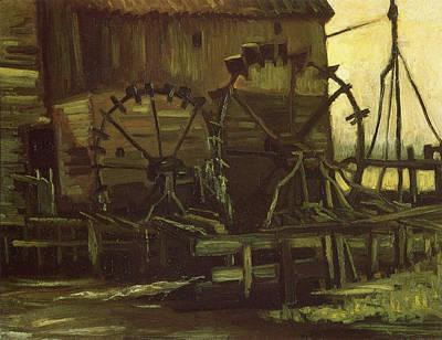 Water Wheels Of Mill At Gennep, 1884 Print by Vincent Van Gogh