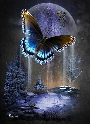 Digital Art - Water Wings by Ali Oppy