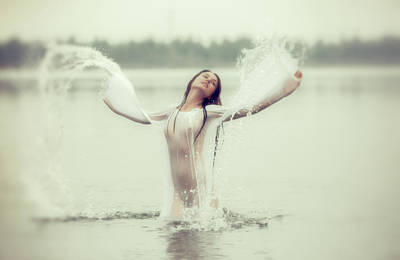 Photograph - Water Wings by Vitaly Vakhrushev