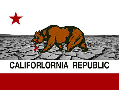 State Of California Digital Art - Water Woes California by Daniel Hagerman