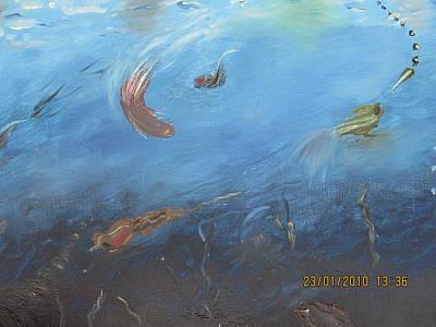 Water World Art Print by Anusha Garg