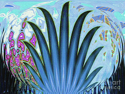 Digital Art - Water World Botanical by Ann Johndro-Collins