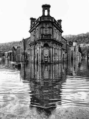 Flooding Photograph - Water World - Hebden Bridge by Philip Openshaw