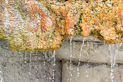 Wall Art - Photograph - Water-worn Fountain by Bill Mock