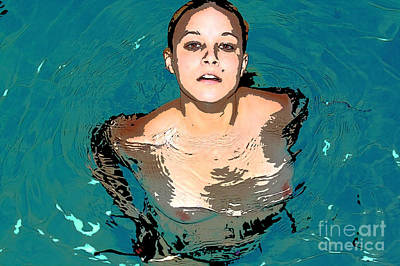 Art Print featuring the painting Waterbabies by Tbone Oliver