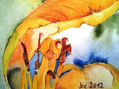 Painting - Watercolor .... Tulip Interiors by Jacqueline Schreiber