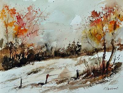 09 Painting - Watercolor 018090 by Pol Ledent