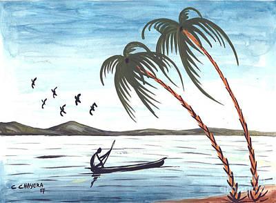 Malawi Painting - Watercolor 3 by Chrisfold Chayera