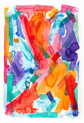 Painting -  Watercolor Abs 41 by Expressionistart studio Priscilla Batzell