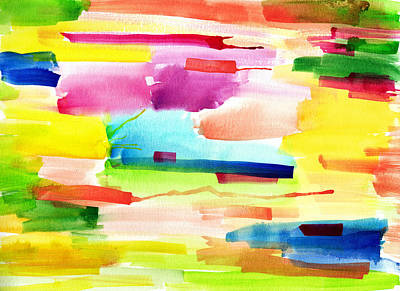 Watercolor Abstract Paintng Art Print by My Art