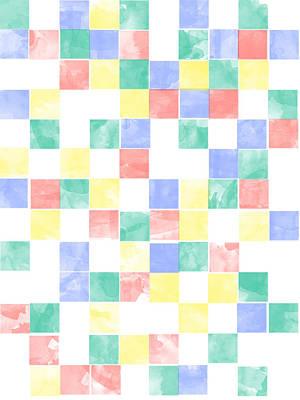 Digital Art - Watercolor Abstract Squares 2 by Keshava Shukla