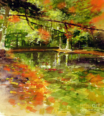 Painting - Glendford Pond by Allison Ashton