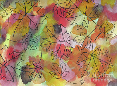 Painting - Watercolor Autumn by D Hackett