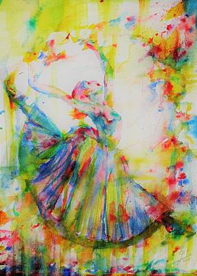 Painting - Watercolor Ballerina.1 by Fabrizio Cassetta