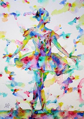Painting - Watercolor Ballerina.2 by Fabrizio Cassetta