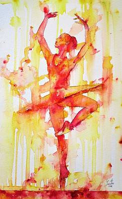 Painting - Watercolor Ballerina.3 by Fabrizio Cassetta