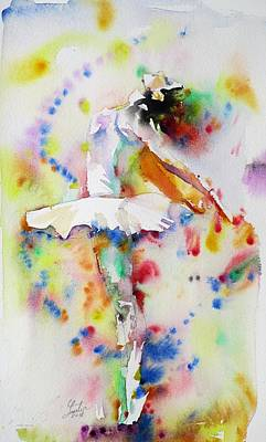 Painting - watercolor BALLERINA.7 by Fabrizio Cassetta