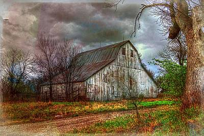 Photograph - Watercolor Barn 2 by Karen McKenzie McAdoo