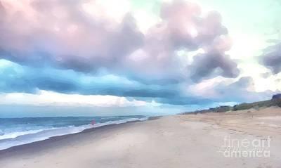 Watercolor Beach Art Print