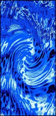Digital Art - Watercolor Blues by Will Borden