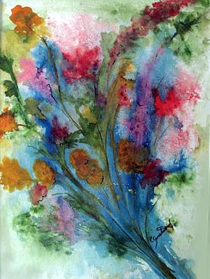 Watercolor Bouquet Art Print by Carol Sweetwood