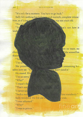 Travel - Watercolor Boy Silhouette 3 by Shelby Wilson