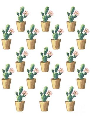 Rolling Stone Magazine Digital Art - Watercolor Cactus by Roam  Images