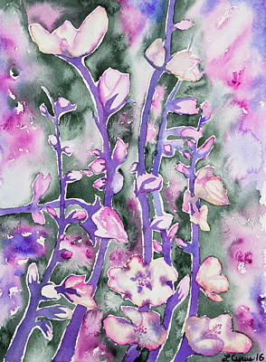 Painting - Watercolor - Cherry Blossoms by Cascade Colors