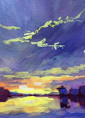 Painting - Watercolor Clouds by Nancy Merkle