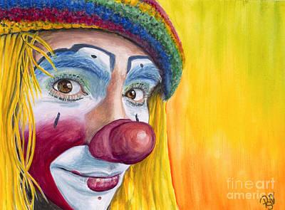 Painting - Watercolor Clown #22 Daniel Flores by Patty Vicknair