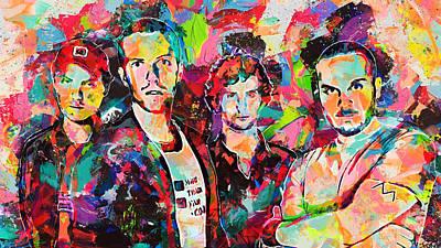 Watercolor Coldplay Art Print