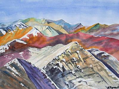 Painting - Watercolor - Colorado Elk Range View by Cascade Colors