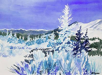Keith Richards - Watercolor - Colorado Snowy Landscape by Cascade Colors