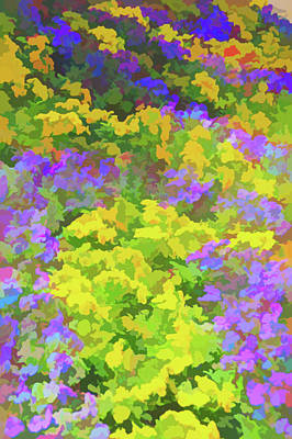 Photograph - Watercolor Colorful Garden by Aimee L Maher Photography and Art Visit ALMGallerydotcom