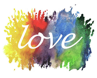 Painting - Watercolor Colors Of Love by Irina Sztukowski