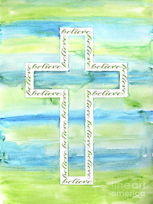 Painting - Watercolor Cross-a by Jean Plout