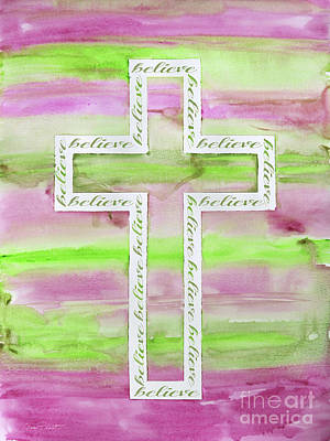 Painting - Watercolor Cross-b by Jean Plout