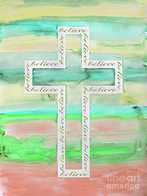 Painting - Watercolor Cross-c by Jean Plout