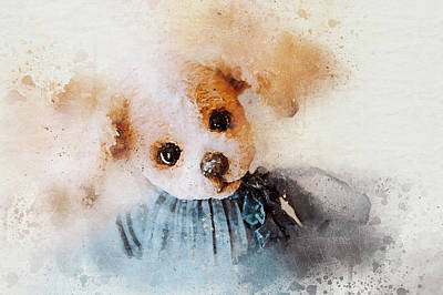 Dog Digital Art Digital Art - Watercolor Dog Toy by Oksana Ariskina