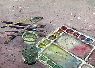 Plein Air Painting - Watercolor by Donald Maier