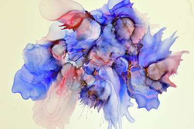On Paper Photograph - Watercolor Dreams by Becky Grassl