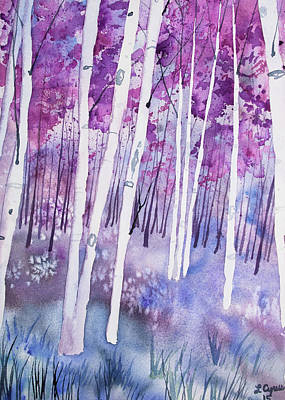 Painting - Watercolor - Ethereal Spring Forest by Cascade Colors
