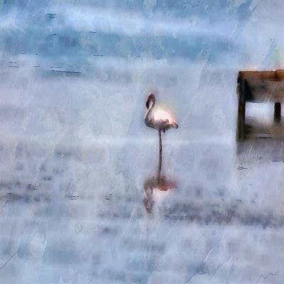 Painting - Watercolor Flamingo by Tracey Harrington-Simpson