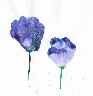Pop Art Rights Managed Images - Watercolor Flower Purple 2 Royalty-Free Image by Shelby Wilson